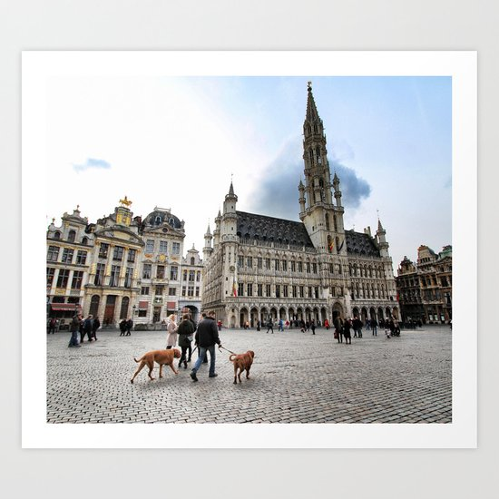 Grand Place, Brussels Art Print
