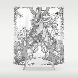 TIME STANDS STILL (comforters, covers, curtains, all over t-shirts) Shower Curtain