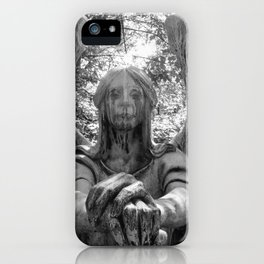 The Grave of Black & White iPhone Case