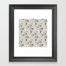 l o v e LOVE ivory white Framed Art Print