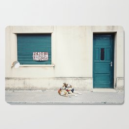 Street dog in Uruguay Cutting Board