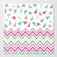 confetti Canvas Prints featuring Confetti  by Bree Madden