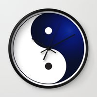 ying yang Wall Clocks featuring Ying Yang by Timeless-Id