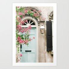 Charleston doorway Art Print