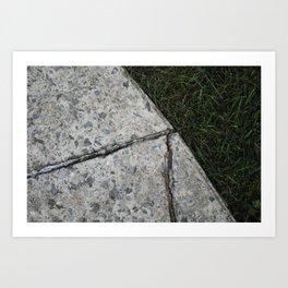 cracks Art Print