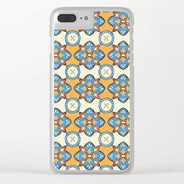 Spanish Tiles Clear iPhone Case