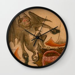 Bat Demon Wall Clock