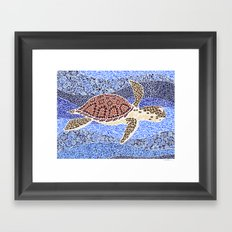 sea turtle: unity through collage Framed Art Print