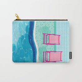 Vay-K - abstract memphis throwback poolside swim team palm springs vacation socal pool hang Carry-All Pouch