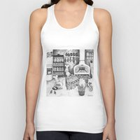 baking Tank Tops featuring Baking Cats by Ulrika Kestere