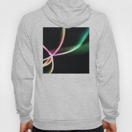 Neon Light Show In Pink And Green Hoody