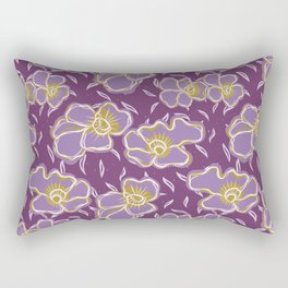 Pretty bold flower pansy blooms pattern Rectangular Pillow