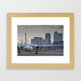 Take Off at London city Airport Framed Art Print
