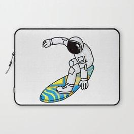 Astronaut Rocket Man on Surfboard Laptop Sleeve