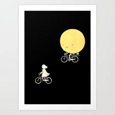 The moon and me Art Print