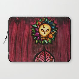 Skull flower Laptop Sleeve