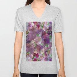 Beautiful ultra violet floral pattern Unisex V-Neck