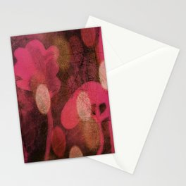 Monoprint Series Pink 1 Stationery Cards