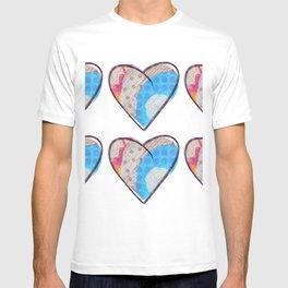 Rainbow Hearts Pattern T-shirt