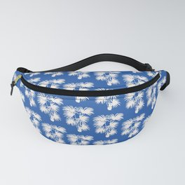 Palm Silhouette   Electric Blue Fanny Pack
