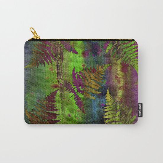Colorful Fern Leaves Carry-All Pouch