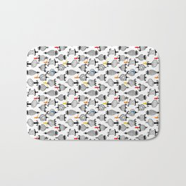 Birds and Crazy Cages Bath Mat