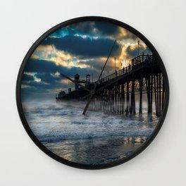 October's Dawn ~ Oceanside Pier Wall Clock