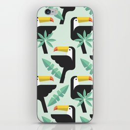 Abstract Pattern with Toucan bird texture iPhone Skin
