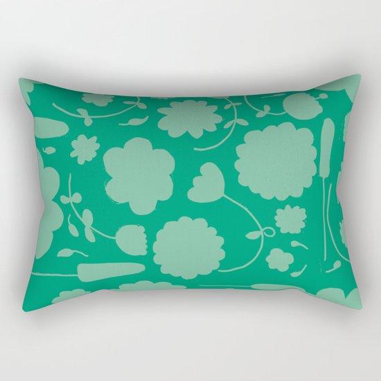Floral green Rectangular Pillow
