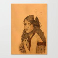 Tribal Girl Canvas Print