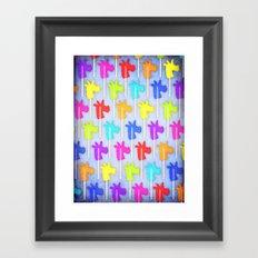 Oh Unicorn Lollipops Framed Art Print