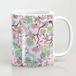 Sneaky snakes in Eden   pink Coffee Mug
