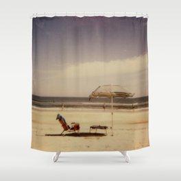 Beach Umbrella - Polaroid Shower Curtain