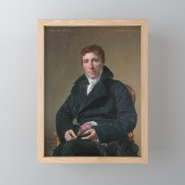 Jacques-Louis David - Portrait of Emmanuel-Joseph Sieyès Framed Mini Art Print