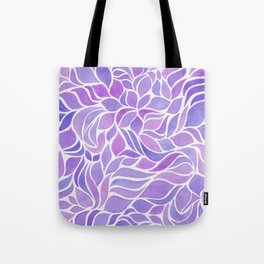 Press of Leaves - Lilac Tote Bag