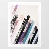 stripes Art Prints featuring STRIPES  by Brandon Neher