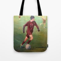 soccer Tote Bags featuring Soccer by Karen Pettengill