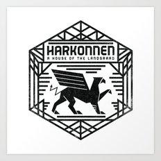 HOUSE HARKONNEN CREST Art Print