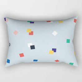 Here and Square Pattern Rectangular Pillow