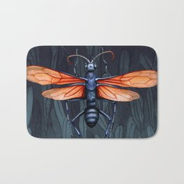 Wasp in the leaves Bath Mat