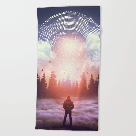 Waiting for the Sun to Rise Beach Towel