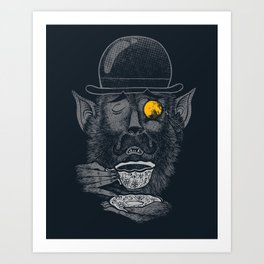 a british gentleman werewolf  Art Print