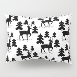 Deer In The Forest Pattern Pillow Sham