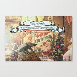 Dung Crosby - I'm Dreaming of a Shite Christmas Canvas Print