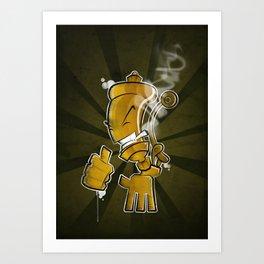 Steam Whistler Art Print