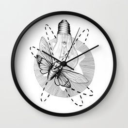 Moth to the Flame Wall Clock