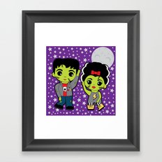 The Frankenstein Stomp Framed Art Print