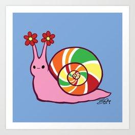 Sweetie Candie Snail Art Print