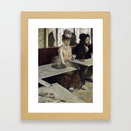 The Absinthe Drinker by Edgar Degas Framed Art Print