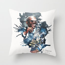 BB King watercolor Throw Pillow